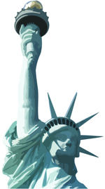 Free vector of the statur of Liberty, New York