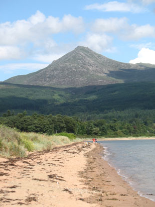 Picture of   Goatfell from Brodick Beach is shown on this page.