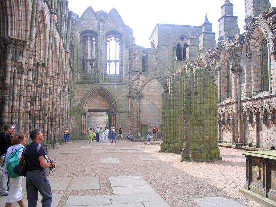 Inside Holyrood Abbey, Edinburgh