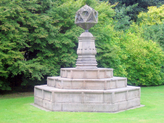 A statue in the Holyrood Abbey Gardens