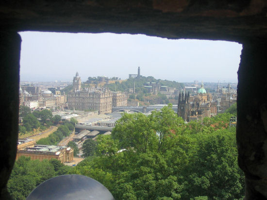 View over Edinburgh from Castle