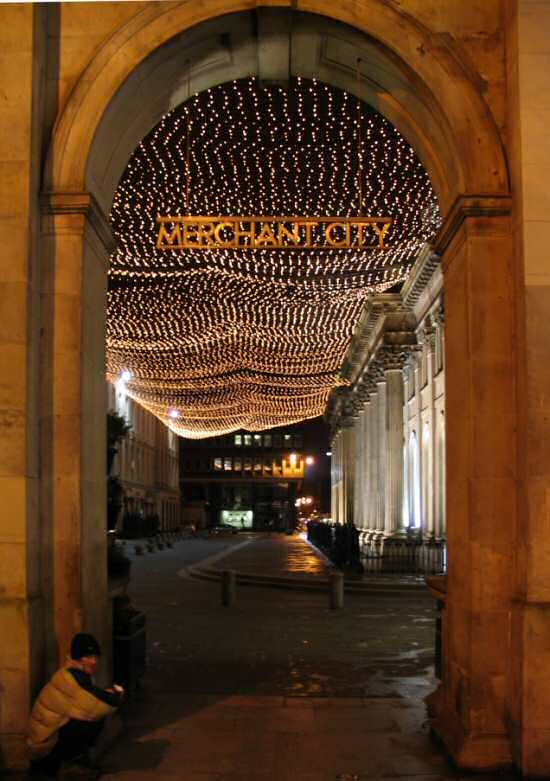 Merchant City in Glasgow at Christmas
