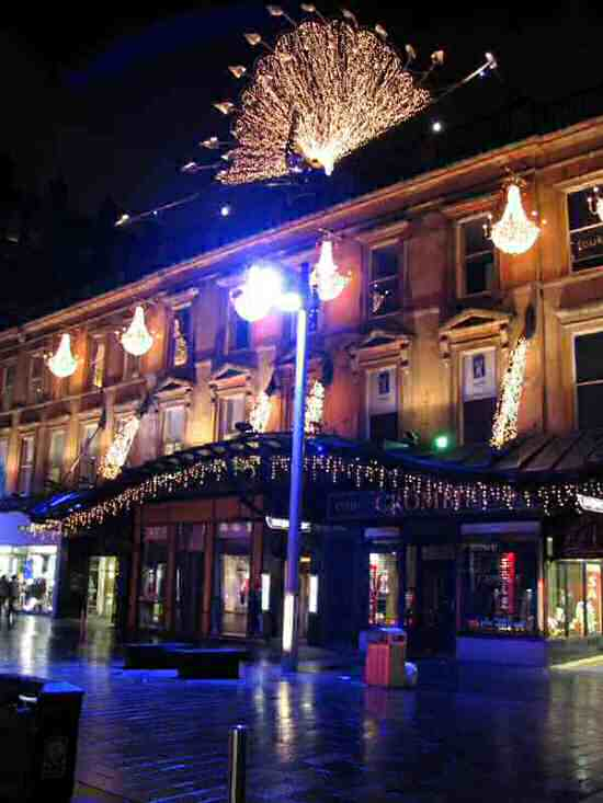 Glasgow Princess Square during Christmas 2005.