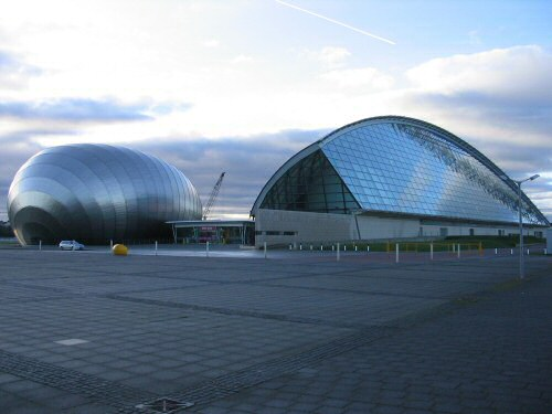 The Glasgow Science Centre and Imax cinema