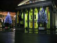 The Glasgow Modern Art Gallery during Christmas 2005.