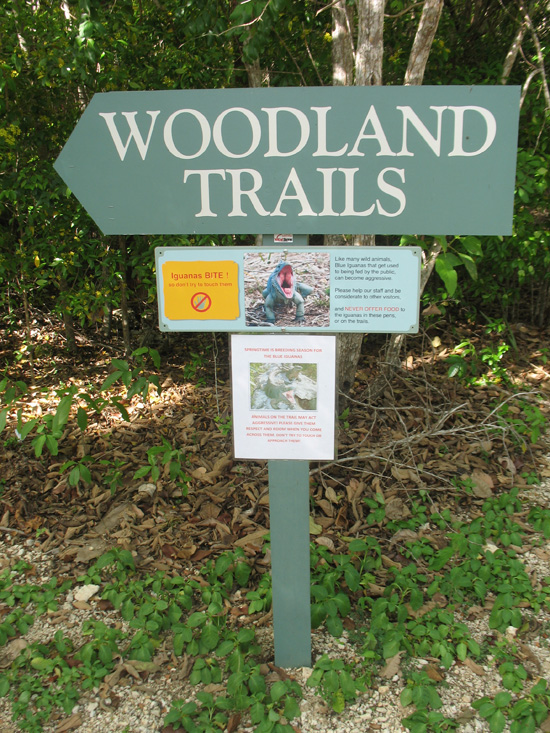 woodland in the trails sign in the trail,Botanic Park cayman picture