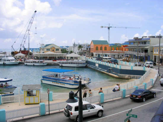 A picture of the the George Town waterfront.