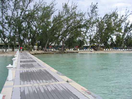 A picture of the beach at Rum Point, Grand Cayman.