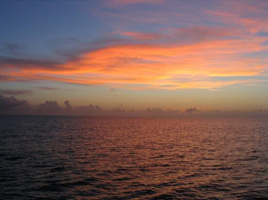 A picture of a Summer Sunset in Grand Cayman.