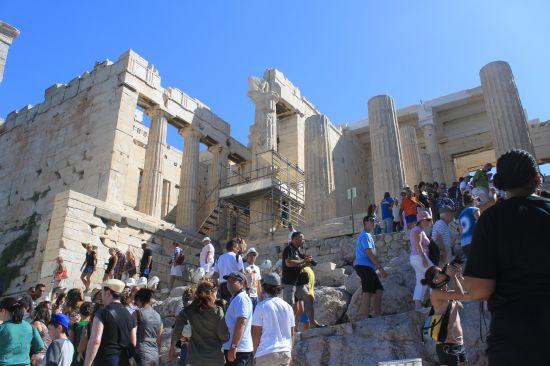 Entrance Way To The Propylaia - Acropolis, Athens, Greece ...