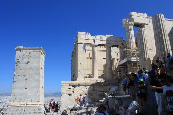 Entrance Way To The Propylaia Side - Acropolis, Athens ...