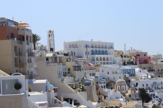 Hotel Atlantis Over Rooftops Fira Santorini Greece