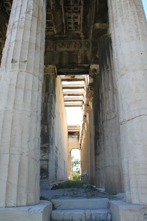 Picture of the View From Further Back  of Temple Of Hephaestus - Athens, Greece
