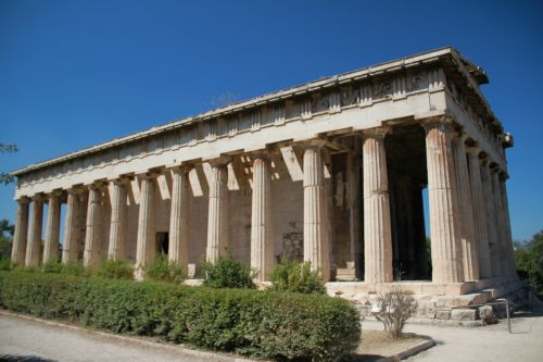 Picture of the View Inside Along The Pillars  of Temple Of Hephaestus - Athens, Greece