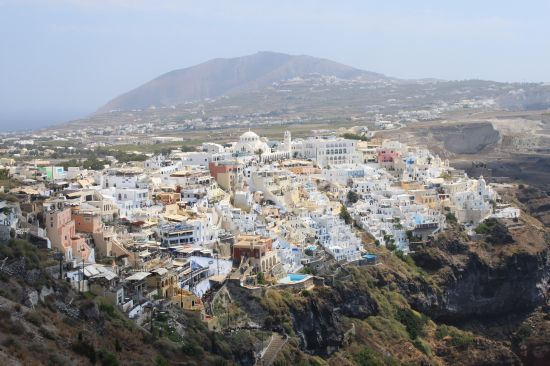 Picture of the  Town Ontop Of The Cliffs  - Fira, Santorini, Greece