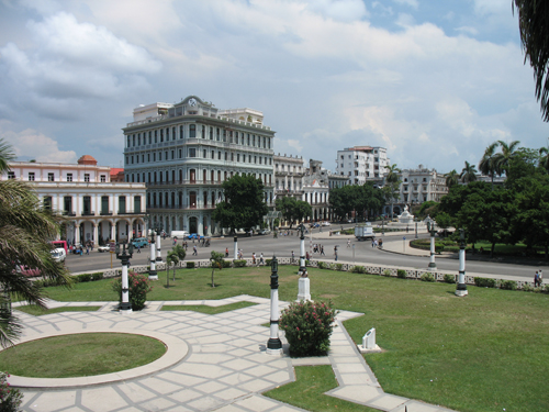 A view from El Capitolio Building, Havana, Cuba.