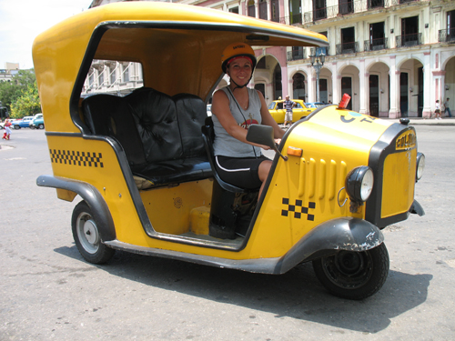 A picture of Coco Taxi, Havana, Cuba.