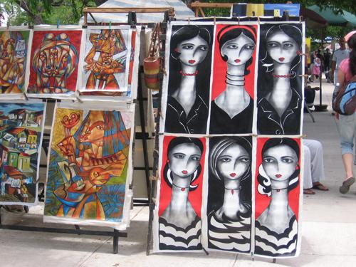 A picture of Cuba Tacon Art Market, Havana, Cuba..