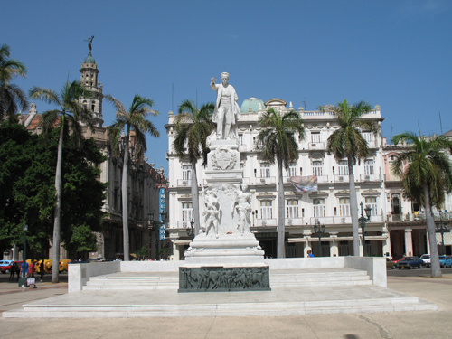 A picture of the statue of Jose Marti, Parque Central, Havana, Cuba.