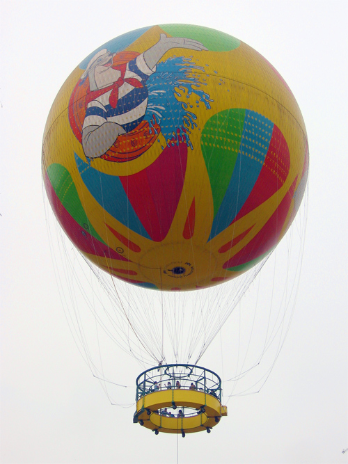 Picture of Skyfair Balloon Ocean Park in Hong Kong, China.
