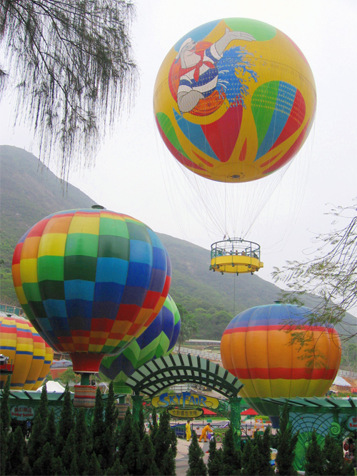 Picture of Skyfair Balloons Ocean Park in Hong Kong, China.