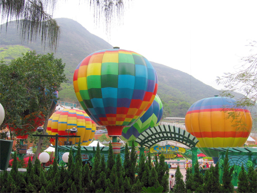 Picture of the balloons at Skyfaire, Ocean Park in Hong Kong, China.