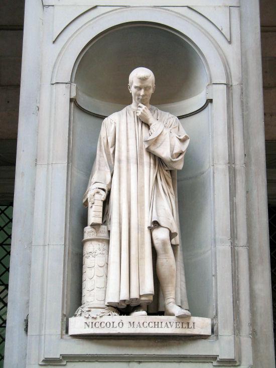 Niccolo Macchiavelli statue in the Piazzale degli Uffizi, Florence