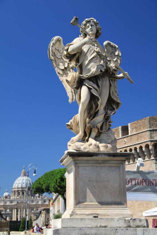Ponte Sant Angelo Angel With Sponge Rome Italy Web