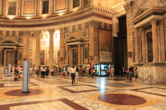 The Entrace To Pantheon   - Rome, Italy