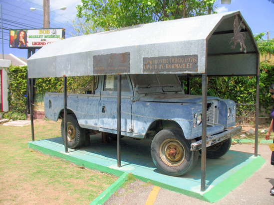 Picture of  The  Bob Marley Landrover in Kingston Jamaica  is shown on this page.