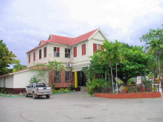 Picture of  The  Bob Marley Museum in Kingston Jamaica  is shown on this page.