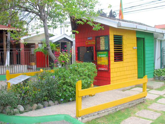 Picture of  The  Bob Marley Ticket Office in Kingston Jamaica  is shown on this page.