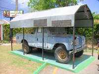 Landrover at The Bob Marley Museum, Kingston Jamaica