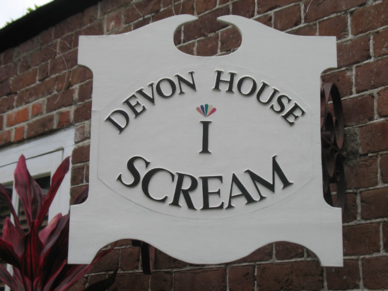 Picture of  The  I Scream Sign at Devon House, Kingston, Jamaica  is shown on this page.