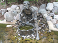 Statue At Pond at Hope Botanical Gardens, Kingston, Jamaica