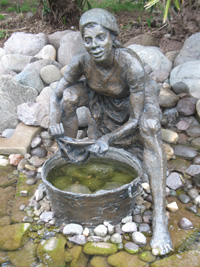Statue At Pond2 at Hope Botanical Gardens, Kingston, Jamaica
