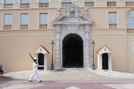 Monaco Palace Entrance And Soldier, France
