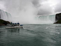 Maid Of The Mist Approaching Niagara Falls Picture