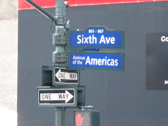 Sixth Avenue Street Sign, New York, USA