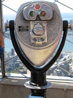 Binoculars at the top of the Empire State Building, New York, USA