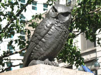 The Owl statue in Herald Square, New York, USA