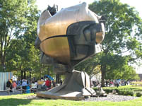 Sphere by Fritz Koenig at Battery park, New York, USA
