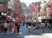 Street View of Little Italy, New York, USA