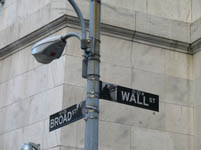 Wall Street Sign, New York, USA