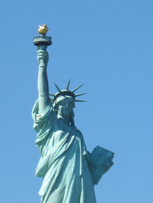 Picture of  The The top of The Statue of Liberty, New York, USA is shown on this page.