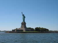 Statue of Liberty from the front, New York, USA