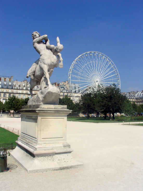 A picture of Ferris wheel near Musee du Louvre, Paris, France