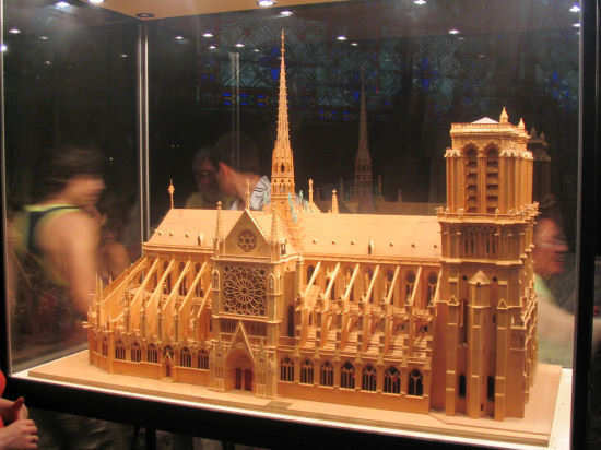 Picture of Notre Dame Cathedral Model, Paris, France