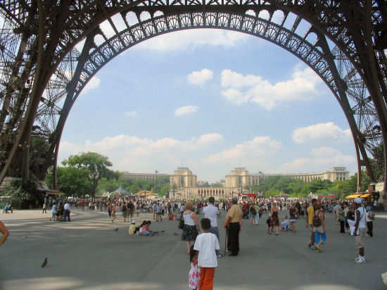Picture of Under the Eiffel Tower.