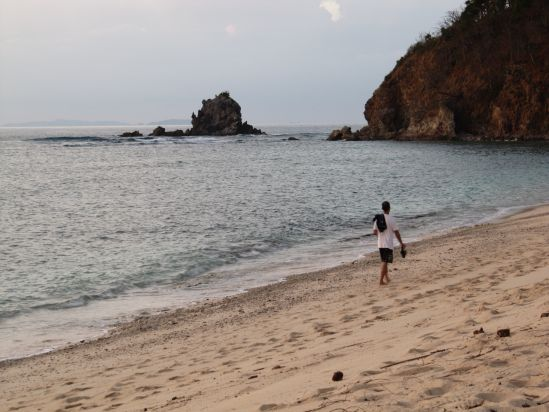 club paradise coron philippines walking along beach picture